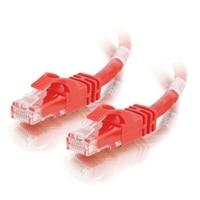 C2G Cat6 550MHz Snagless Patch Cable - Patch-kabel - RJ-45 (hane) - RJ-45 (hane) - 3 m (9.84 ft) - CAT 6 - formpressad, mångtrådig, hakfri, startad - röd