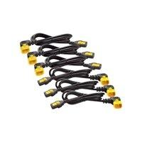 APC - Strömkabel - IEC 60320 C13 till IEC 60320 C14 - 10 A - 1.22 m - 90° kontakt - svart - för P/N: SMX3000RMHV2UNC
