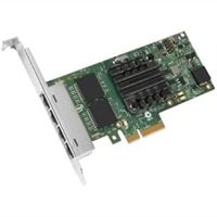 Dell 四連接埠 1 Gigabit 伺服器配接卡乙Intel 太網路 I350 PCIe 網路介面卡 低矮型