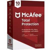 McAfee® Total Protection – 電子軟體下載 - 1 年訂閱授權 – 10 部裝置 – Windows
