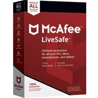 McAfee LiveSafe and H and R Block Deluxe+State 2018