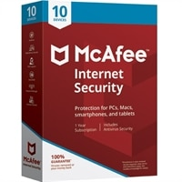 McAfee Internet Security 2019 Software for 10 Device / 1 Year Software