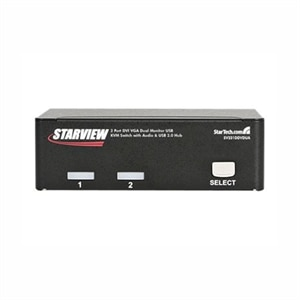 StarTech com 2 Port DVI VGA Dual Monitor KVM Switch USB with