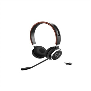Jabra Evolve 65 Ms Stereo Headset On Ear Wireless Bluetooth With Jabra Link 360 Adapter Dell Canada