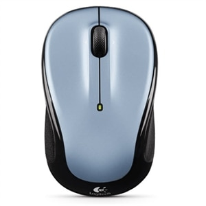 Logitech M325 - Mouse - right and left-handed - optical - wireless - 2.4 GHz - USB wireless receiver - light silver