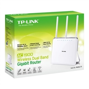 TP-Link ARCHER C9 AC1900 - Wireless router - 4-port switch - GigE - 802.11a/b/g/n/ac - Dual Band