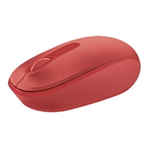 Microsoft Wireless Mobile Mouse 1850 - mouse - 2.4 GHz - flame red