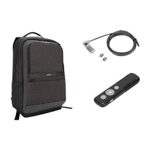 Targus Bundle: CitySmart Essential Backpack + P30 Wireless Presenter + Defcon 3-in-1 Lock
