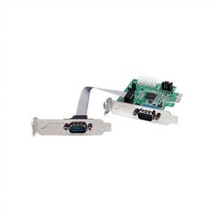 2 Port StarTech Low Profile Native RS232 PCI Express Serial Card With 16950 UART