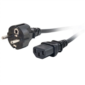 2m Power Cable US 3 Pin Plug to C13 IEC