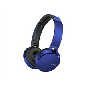 Sony MDR-XB650BT - XB Series - headphones with mic - full size - Bluetooth - wireless - NFC - blue