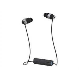 ifrogz Impulse - Earphones with mic - in-ear - Bluetooth - wireless - black & silver