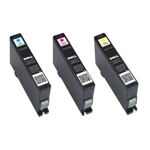 Dell Single Use Cyan Magenta Yellow Ink Cartridge Bundle For V525w V725w All In One Wireless Inkjet Printer Add To Compare