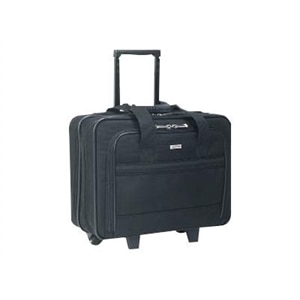 SOLO Rolling Laptop Portfolio B100-4 - Laptop carrying case - 15.4-inch - black