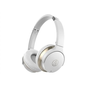 Audio-Technica SonicFuel ATH-AR3BT - Headphones with mic - on-ear - Bluetooth - wireless - NFC - white