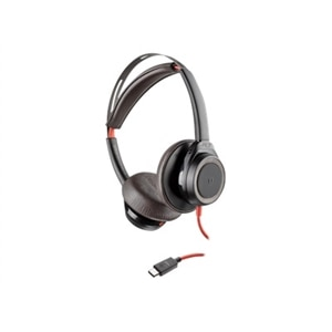 Plantronics Blackwire 7225 - Headset - on-ear - wired - active noise canceling - USB-C - black