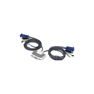 2port usb compact kvm switch w   built