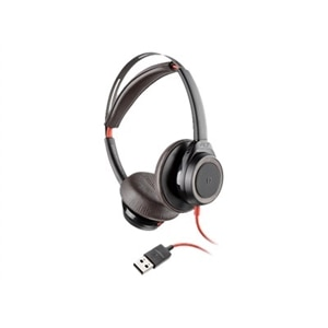 Plantronics Blackwire 7225 - Headset - on-ear - wired - active noise canceling - USB - black