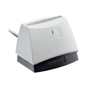 CHERRY SmartTerminal ST-1144 - SMART card reader - USB 2.0 - white (top), black base