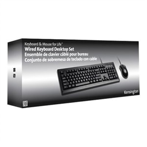 Kensington Keyboard for Life Desktop Set - Keyboard and mouse set - USB - black