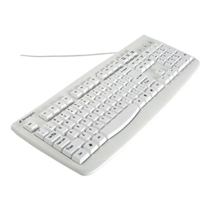 Kensington Washable Keyboard with Antimicrobial Protection - Keyboard - PS/2, USB - English - US - white