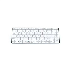 Seal Shield Clean Wipe Waterproof - Keyboard - backlit - Bluetooth - black/white