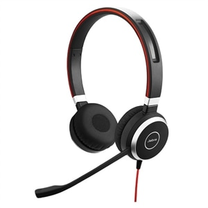 Jabra Evolve 40 UC stereo - Headset - on-ear - wired - 3.5 mm jack