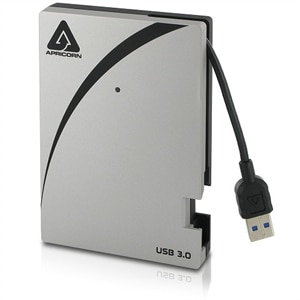 Apricorn Aegis Portable 3.0 USB 2 TB Drive with Integrated USB Cable A25-3USB...