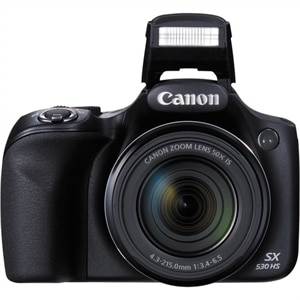 Canon- PowerShot SX530 HS Digital Camera- Black