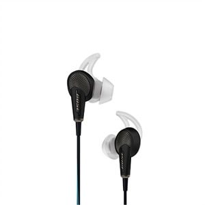 Bose QuietComfort 20 - Earphones with mic - in-ear - wired - active noise canceling - 3.5 mm jack - black