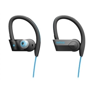 Jabra Sport Pace Wireless Bluetooth Stereo Earbuds (retail packaging) - Blue