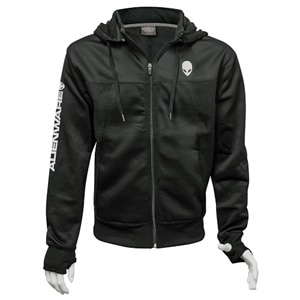 Alienware Poly-Tech Zip Hoodie - Black - Size M | Dell USA
