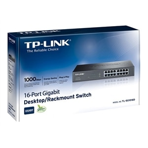 TP-LINK TL-SG1016D 16-Port Gigabit Switch Switch unmanaged 16 x 10/100/1000 - desktop