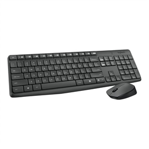 Logitech MK235 Keyboard and Mouse Combo -Wireless - Black