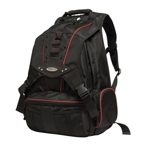 Mobile Edge Premium 17.3-inch Laptop & Tablet Backpack - Laptop carrying backpack - 15.6-inch - 17.3-inch - black, red
