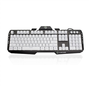 Kaliber Gaming by IOGEAR HVER Aluminum Gaming Keyboard - Keyboard - backlit - imperial white