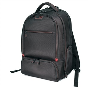 Mobile Edge Professional Backpack - Laptop carrying backpack - 16-inch - black, red