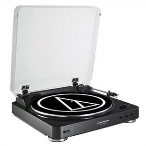 Audio-Technica AT-LP60-USB Fully Automatic Belt-Drive Turntable (Black)