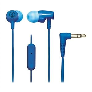 Audio-Technica SonicFuel ATH-CLR100is - Earphones with mic - in-ear - wired - 3.5 mm jack - blue