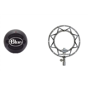 Blue Microphones Snowball - Microphone - black + Blue The Ringer - Shock mount - blackout
