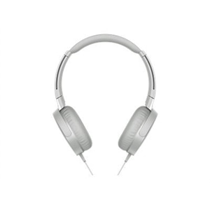Sony MDR-XB550AP - Headphones with mic - on-ear - 3.5 mm jack - white