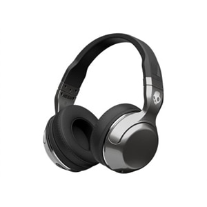 Skullcandy HESH 2 - Headphones with mic - full size - Bluetooth - wireless - 3.5 mm jack - black, silver