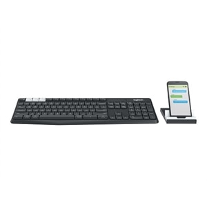 Logitech K375s Multi-Device - Keyboard - Bluetooth, 2.4 GHz - graphite, off-white