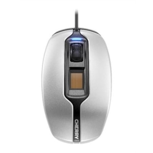 CHERRY MC4900 - Mouse - right and left-handed - optical - 3 buttons - wired - USB - silver/black