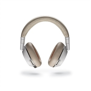 Plantronics Voyager 8200 UC  Headphones with mic  Bluetooth active noise canceling  3.5 mm jack - White