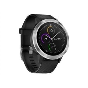 Garmin vívoactive 3 - Stainless steel - smart watch with band - black - Bluetooth, ANT/ANT+ - 1.52 oz