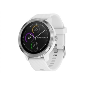 Garmin vívoactive 3 - Stainless steel - smart watch with band - white - Bluetooth, ANT/ANT+ - 1.52 oz