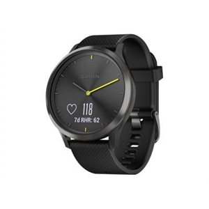 Garmin vívomove HR Sport - black - smart watch with sport band - black