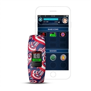 Garmin vívofit jr 2 - Captain America - activity tracker with band - Bluetooth - 0.95 oz