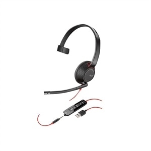 Plantronics Blackwire 5210 - 5200 Series Headset - on-ear Wired - USB, 3.5 mm jack